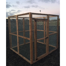 "6ft x 6ft 16G 1"" Fox / Dog Proof & Cat Safe Run"