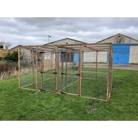 18 panels, 2 door panels and 8 mesh roof panels 19G.