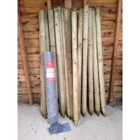 Rabbit wire fencing bundle with free staples