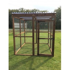 6FT x 6FT Run 16G Clear Waterproof Outdoor Animal Pen