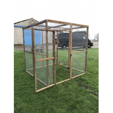 7 Wire Mesh Panel + 1 Door + 2 Mesh Roof