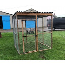 7 Wire Mesh Panels + 1 Door + 2 Sheeted Waterproof Roof Panels.