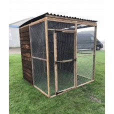 3 Wire Mesh Panels + 4 Full Board Panels + 1 Door Panel + 2 Sheeted Waterproof Roof Panels 6ft.