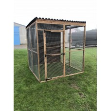 5 Wire Mesh Panels + 2 Full Board Panels + 1 Door + 2 Waterproof Roof Panels.