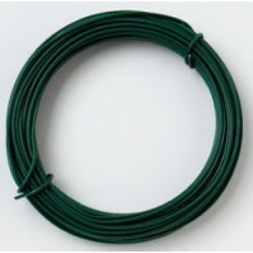 Green PVC coated fencing wire 3.15mm, 5kg approx 140 meters