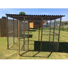 Animal Enclosure With Waterproof Roof 9FTlong x 6FT Wide.