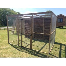 Animal Enclosure With Mesh Roof And 1 Full Boarded Side 6ft x 9ft