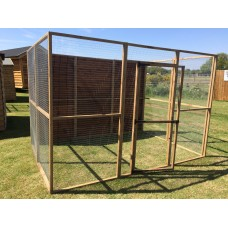 Animal Enclosure With 1 Full Boarded Side 6ft x 9ft