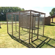 Animal Enclosure 6ft x 9ft With Wire mesh Roof.