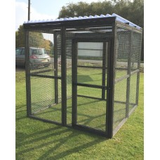 Black Animal Enclosure Clear Waterproof Roof Dog, Cat, Rabbit, Chicken 6FT