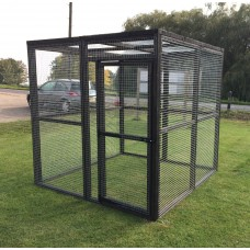 Black Animal Run 6ft Dog, Cat, Rabbit, Chicken Enclosure