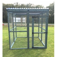 Blue Animal Enclosure Clear Waterproof Roof Dog, Cat, Rabbit, Chicken 6FT