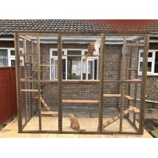 Catio / Cat Lean to 9ft x 6ft x 7.5ft tall with lots of shelves and ladders