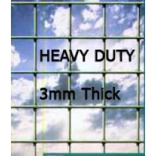 "PVC Green Mesh - 48"" Wide (4ft) 50 mm holes (2"" holes) Heavy Duty"