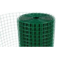 "Green PVC Wire Mesh 13x25mm Holes (1/2""x 1"" inch) 36""High - 30"